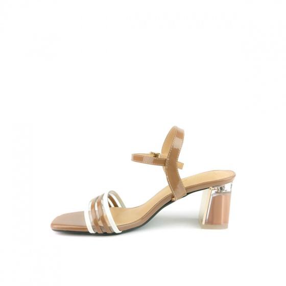 Giày sandal cao gót SUNDAY DV68 - Màu nâu