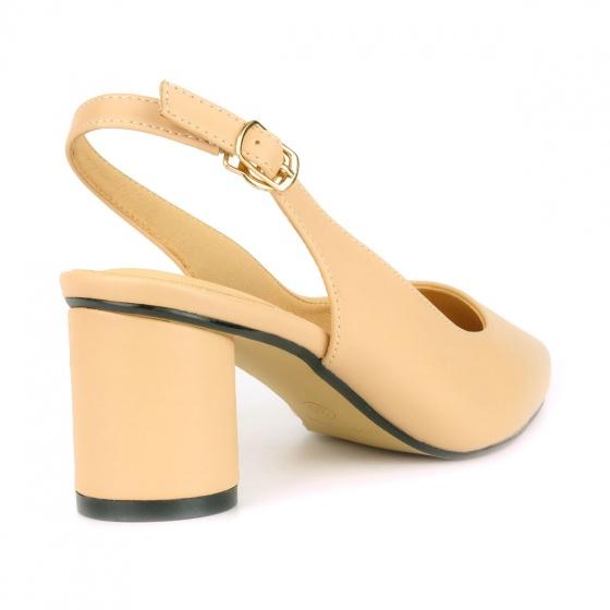 Giày cao gót đế trụ SUNDAY CG48 - Màu kem