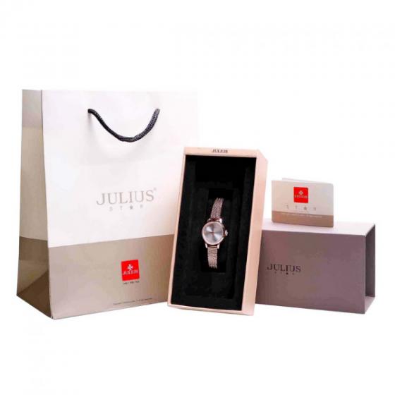 Đồng hồ nữ dây kim loại chính hãng Julius Star Hàn Quốc JS-045A Đồng.