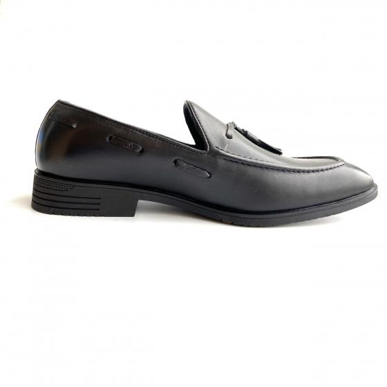 Giày tây công sở nam - Giày lười nam da thật - Geleli bảo hành 12 tháng