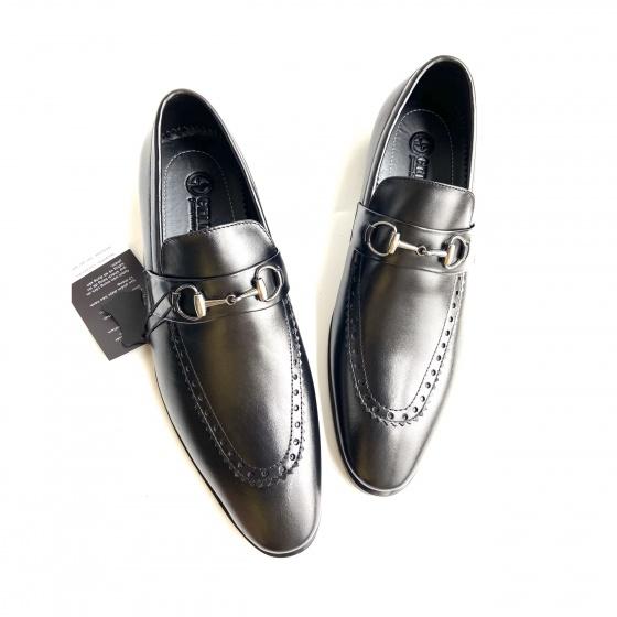 Giày nam giày lười Geleli da thật - Bảo hành chính hãng 12 tháng