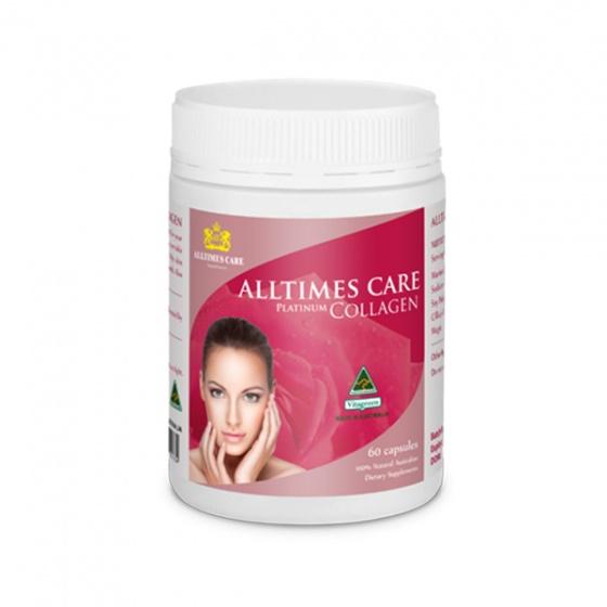Thực phẩm bảo vệ sức khỏe Collagen Alltimes Care 60 viên + Tặng 1 ly sứ