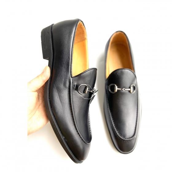 Giày tây nam giày lười da thật - Geleli bảo hành 1 năm