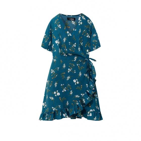 Đầm nữ The Cosmo ISABELLE DRESS màu xanh cổ vịt TC2005231CN