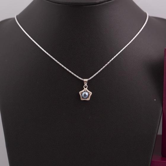 Dây chuyền bạc kết hợp mặt ngọc trai - Opal - NPT6-10