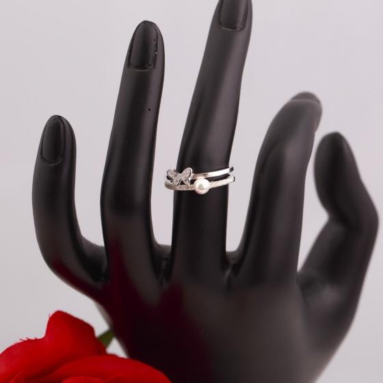 Nhẫn bạc đính ngọc trai - Opal - RPT6-05