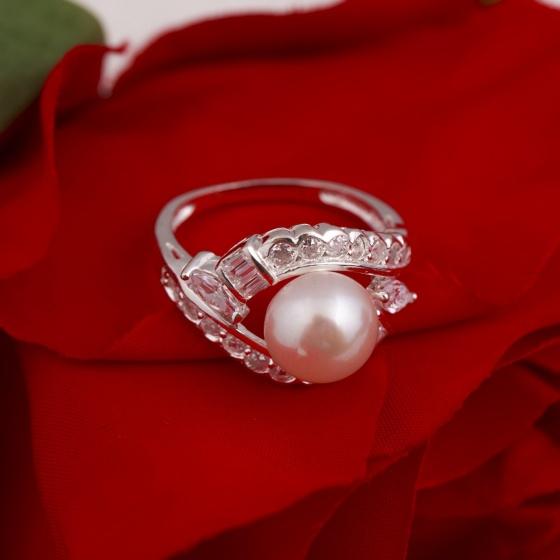 Nhẫn bạc đính ngọc trai - Opal - RPT6-03