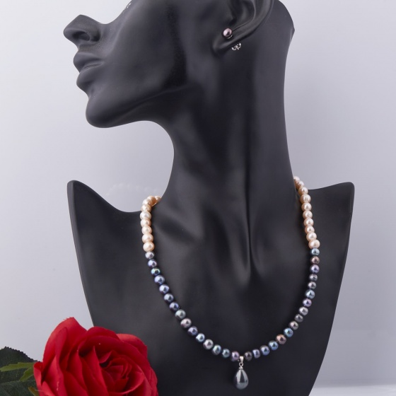 Set vòng cổ và hoa tai ngọc trai - Opal - S2PT6-15