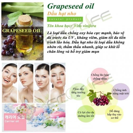 Dầu hạt nho Ecolife mượt tóc, dưỡng da, dưỡng móng