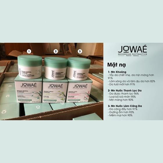 Mặt nạ khoáng sáng da JOWAE clarifying mineral mask tẩy da chết loại bỏ tạp chất làm mịn da nhập khẩu Pháp 50ml
