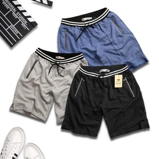 Quần short nam thể thao hợp thời trang vải nỉ thoáng mát qttn02 (xanh biển)