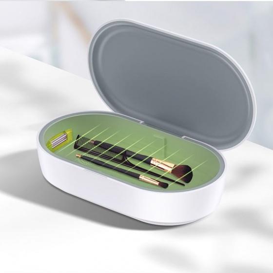 Máy diệt khuẩn, tiệt trùng mini đa chức năng tích hợp sạc không dây USAMS US-ZB138 Multi-function Mini Sterilizer With Wireless Charging