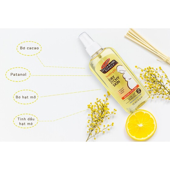 Dầu giảm nhanh khô ngứa da Palmer's Cocoa Butter Formula Soothing Oil for Dry and Itchy Skin 150ml