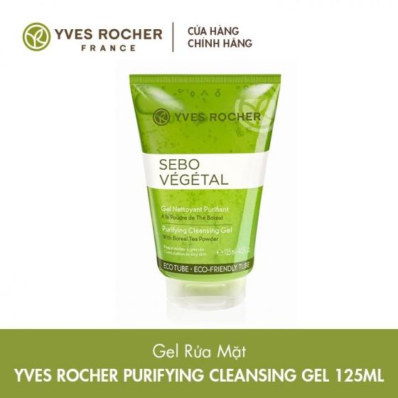 Gel rửa mặt cho da nhờn Yves Rocher Purifying Cleansing Gel 125ml