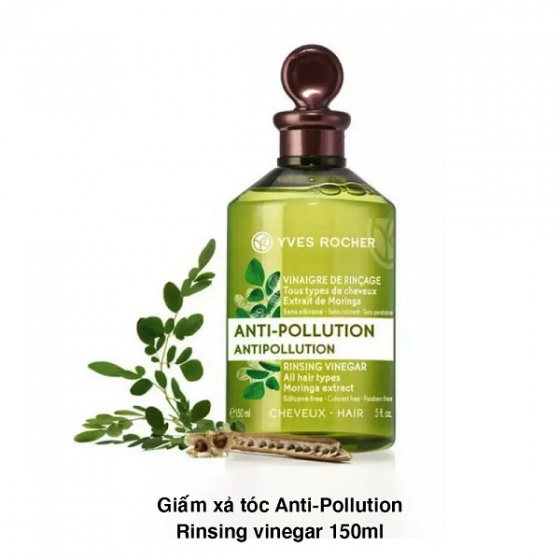Giấm xả tóc Yves Rocher AntiPollution Rinsing Vinegar 150ml