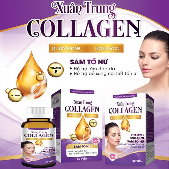Combo 2 chai Xuân Trung Collagen - Giúp hạn chế lão hoá da, giảm nám, tàn nhang, giúp làm đẹp da
