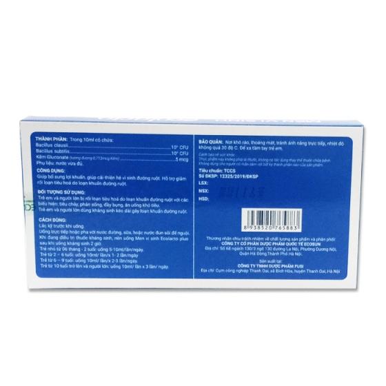 Combo 2 hộp men vi sinh Ecolacto Plus – Bổ sung lợi khuẩn giảm rối loạn tiêu hóa
