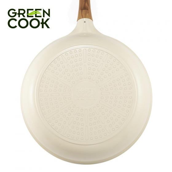Chảo đúc chống dính ceramic đáy từ 26cm Green Cook GCP03-26IH