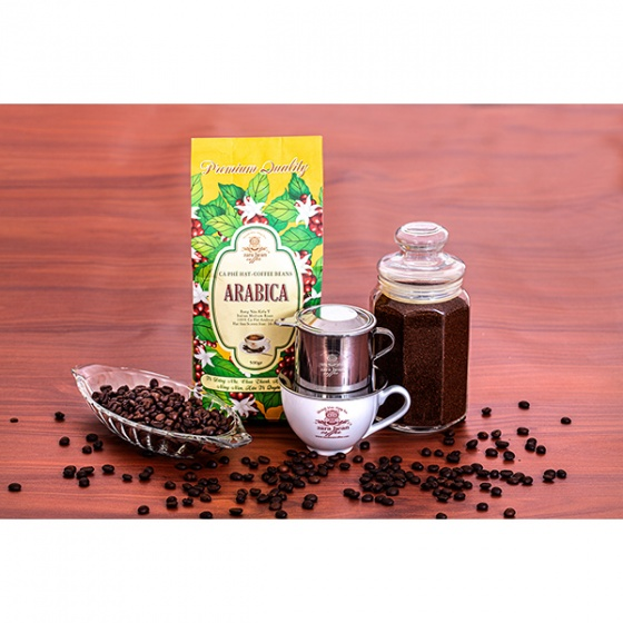 Cà phê hạt Arabica Premium túi 500g