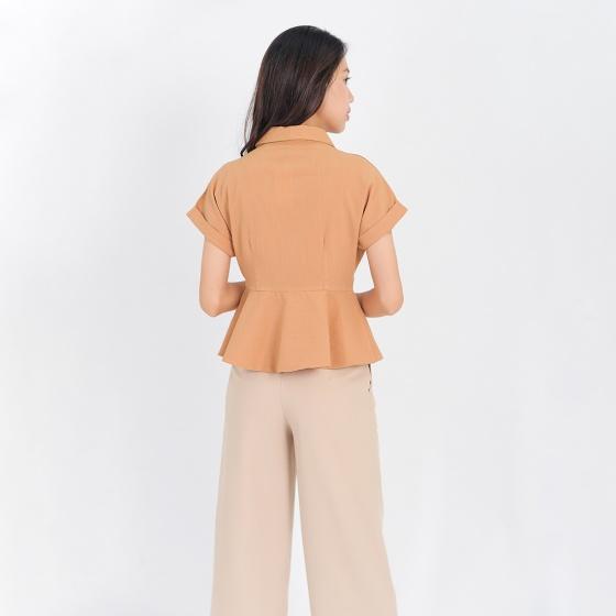 Áo kiểu công sở thời trang Eden cổ vest - ASM093