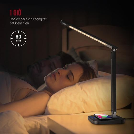 Đèn Led để bàn kiêm sạc không dây Taotronics TT-DL038 công suất 12W