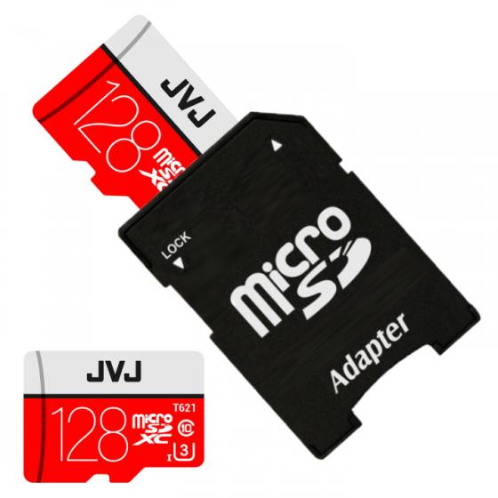 Thẻ nhớ 128Gb JVJ Pro U3 Class 10 MicroSDHC – chuyên dụng cho CAMERA tốc độ cao tương thích với mọi thiết bị