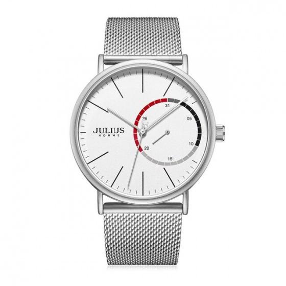 Đồng hồ nam Julius Hàn Quốc JAH-119 dây thép kiểu kim trôi