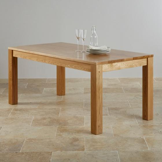 Bàn ăn 8-10 chỗ Capri  gỗ sồi 2m4 (240x120cm) - cozino