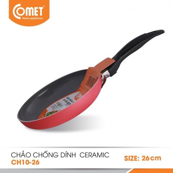 Chảo chống dính Ceramic an toàn cán đen 26cm CH10-26