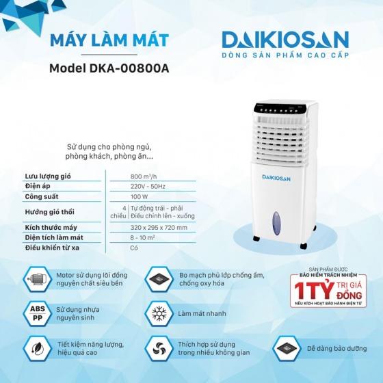 Máy làm mát không khí cho gia đình Daikiosan DKA-00800A - New