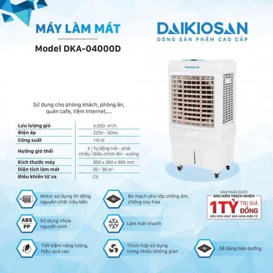 Máy làm mát không khí cho không gian rộng Daikiosan DKA-04000D