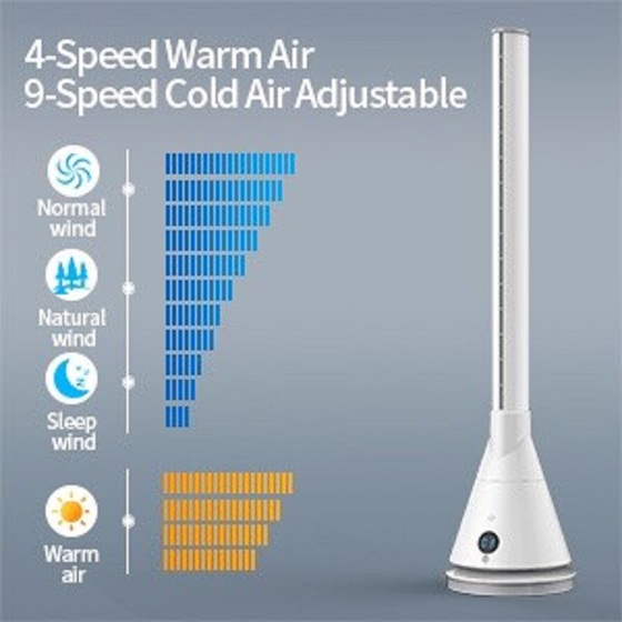 Quạt tháp 2 chiều làm mát và sưởi ấm Ultty SKJ-CR018H (Trắng)