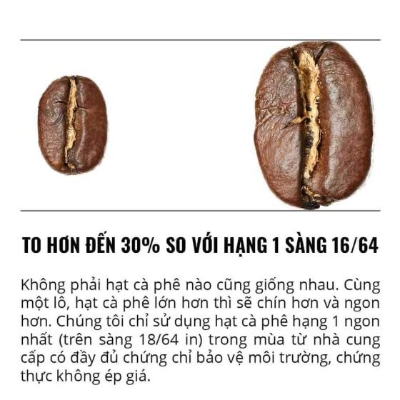 220g Thunder No.8 nguyên hạt pha phin Gu Việt – 1864 CAFÉ®