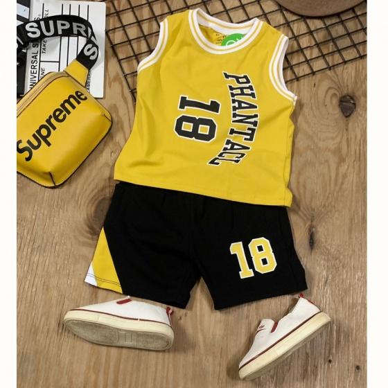 Bộ thun 18 phong cách thể thao mát mẻ cho bé trai size cồ 40-60kg BTN072 nhiều màu