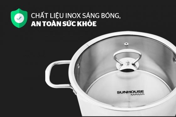 Bộ nồi inox 5 đáy Sunhouse SH787