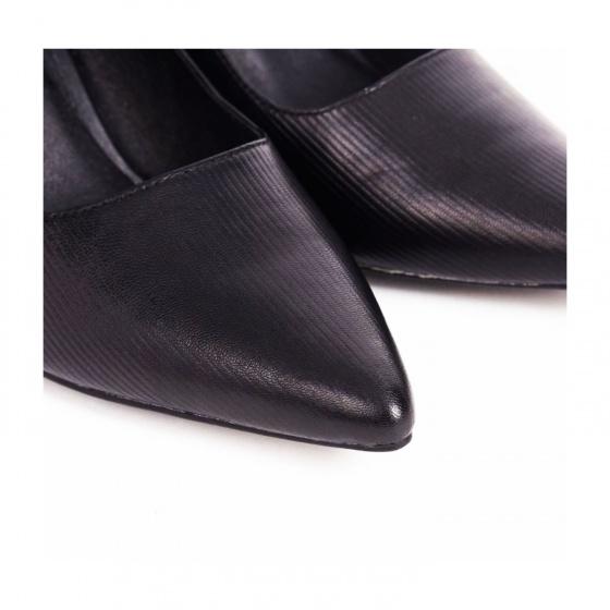 Giày công sở gót vuông 7 cm mũi nhọn cao cấp da thật hiệu Edison Michael sana