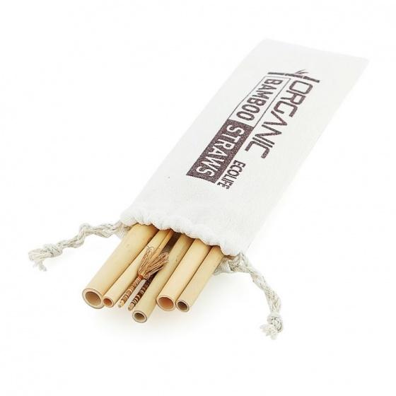 Bộ ống hút tre- túi lớn ECOLIFE - Bamboo Straw Big