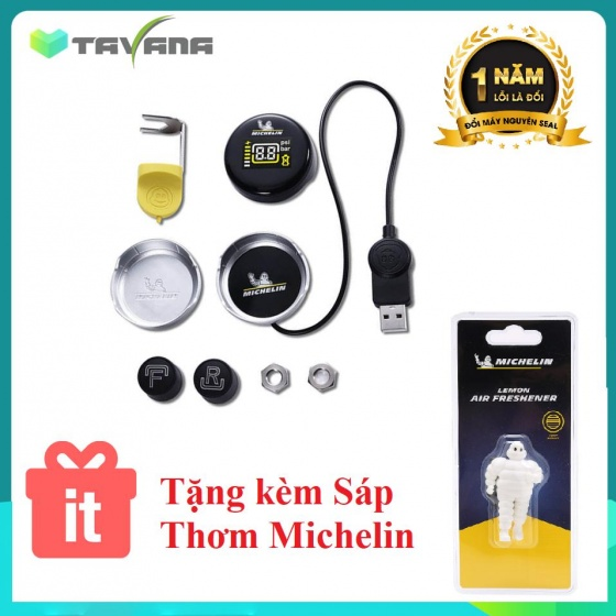 Cảm biến đo áp suất lốp xe máy Michelin FMR(D)-1+2SFMTLE-1 tặng sáp thơm ô tô Michelin