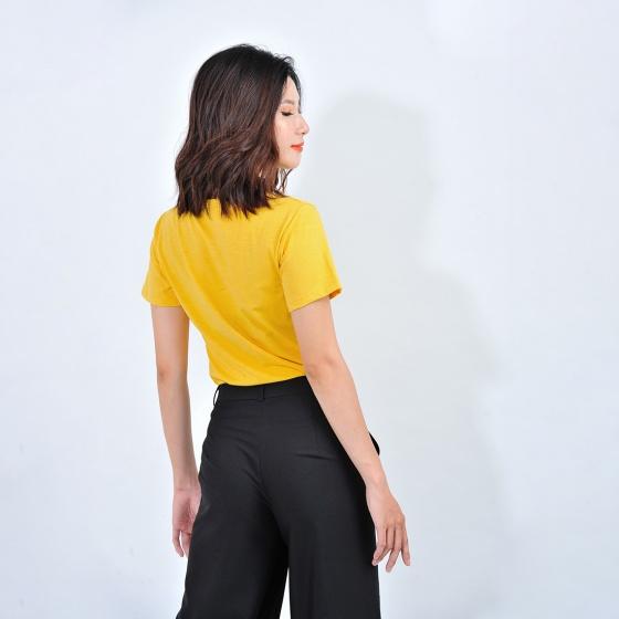 Áo thun nữ thời trang Eden tay ngắn in chữ - AT084