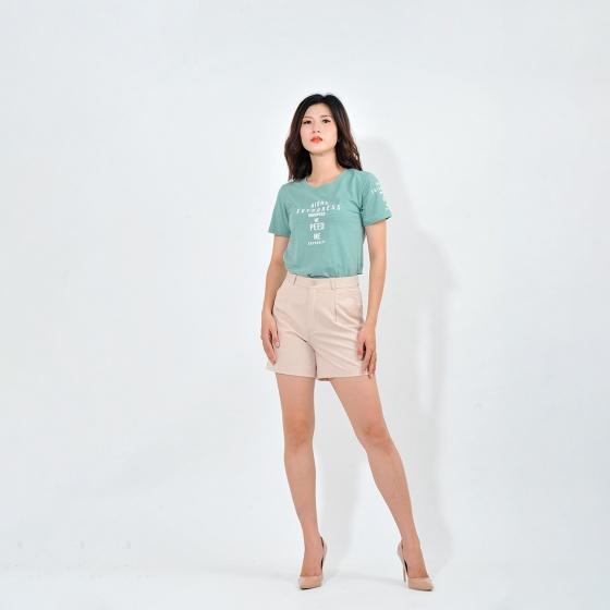 Áo thun nữ thời trang Eden tay ngắn in chữ - AT082