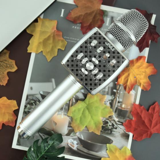 Micro Karaoke Bluetooth YS95 JVJ kèm loa không dây tích hợp Live Stream giả giọng
