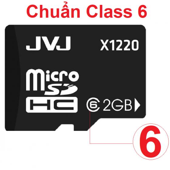 Thẻ nhớ 2G  Class 10 JVJ tốc độ cao micro SDHC - Bảo hành 5 năm chuyên dụng cho điện thoại