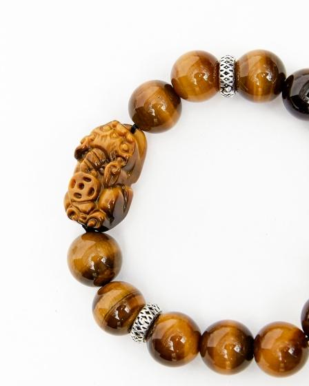 Vòng tay đá thiên nhiên 12mm phối tỳ hưu đá - Ngọc Quý Gemstones