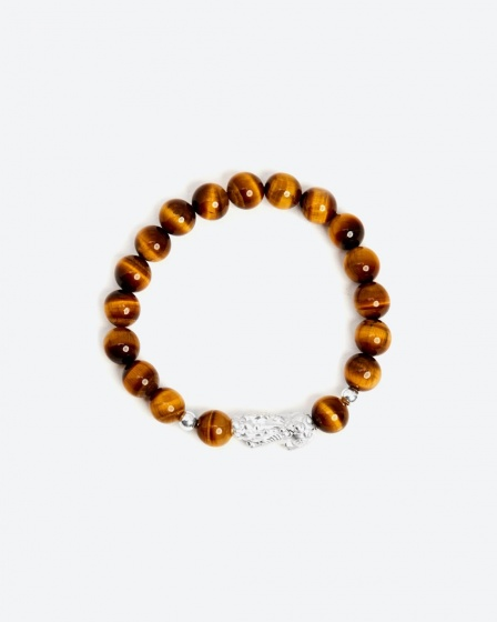 Vòng đá thiên nhiên phối charm tỳ hưu bạc - Ngọc Quý Gemstones