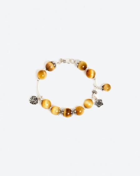 Vòng tay đá tự nhiên phối charm trái tim - Ngọc Quý Gemstones