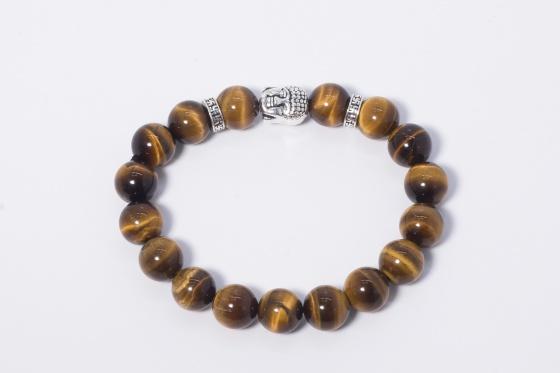 Vòng đá thiên nhiên phối charm phật bạc - Ngọc Quý Gemstones