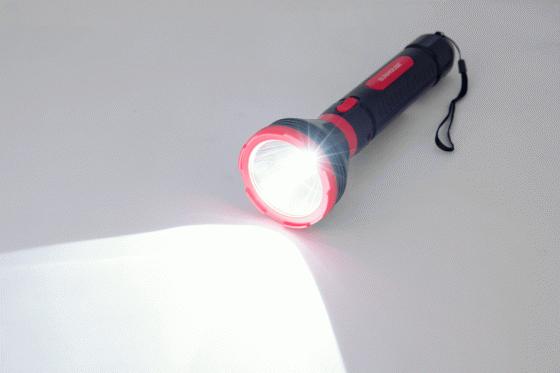 Đèn pin cầm tay LED Sunhouse SHE-4351, cỡ lớn, đỏ đen