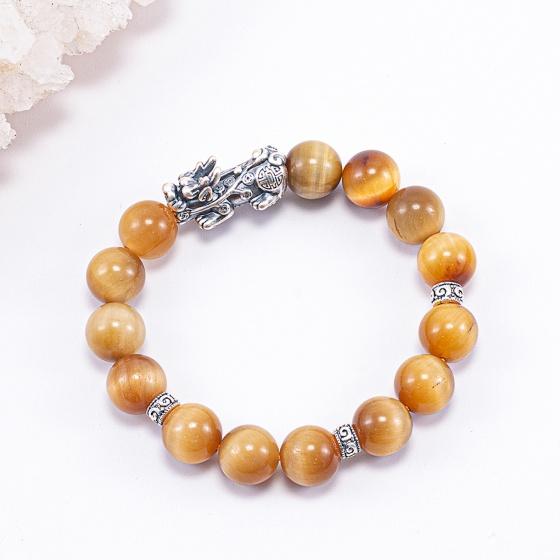 Vòng tay đá thiên nhiên phối charm tỳ hưu - Ngọc Quý Gemstones