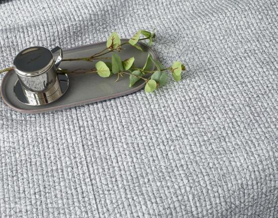 Đĩa sứ Vintage Sa Maison hình oval, 24cm