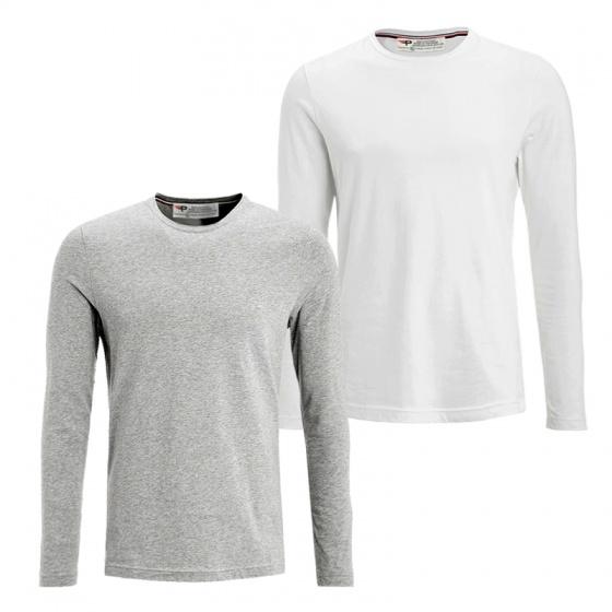 Áo thun nam dài tay pigofashion cổ tròn cotton thoáng mát thoải mái vận động adt01 (chọn màu)